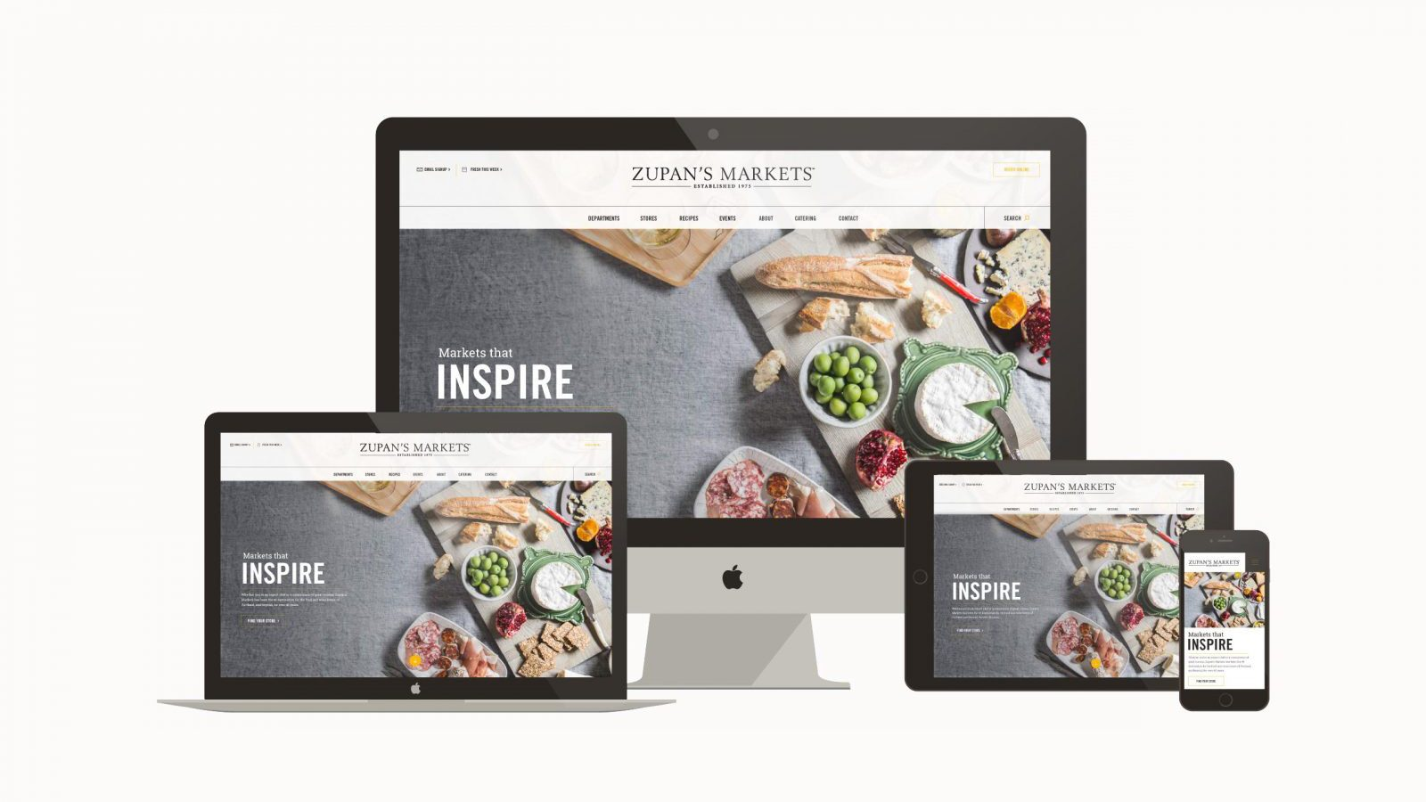 Zupan's Markets responsive website - grocery store website design