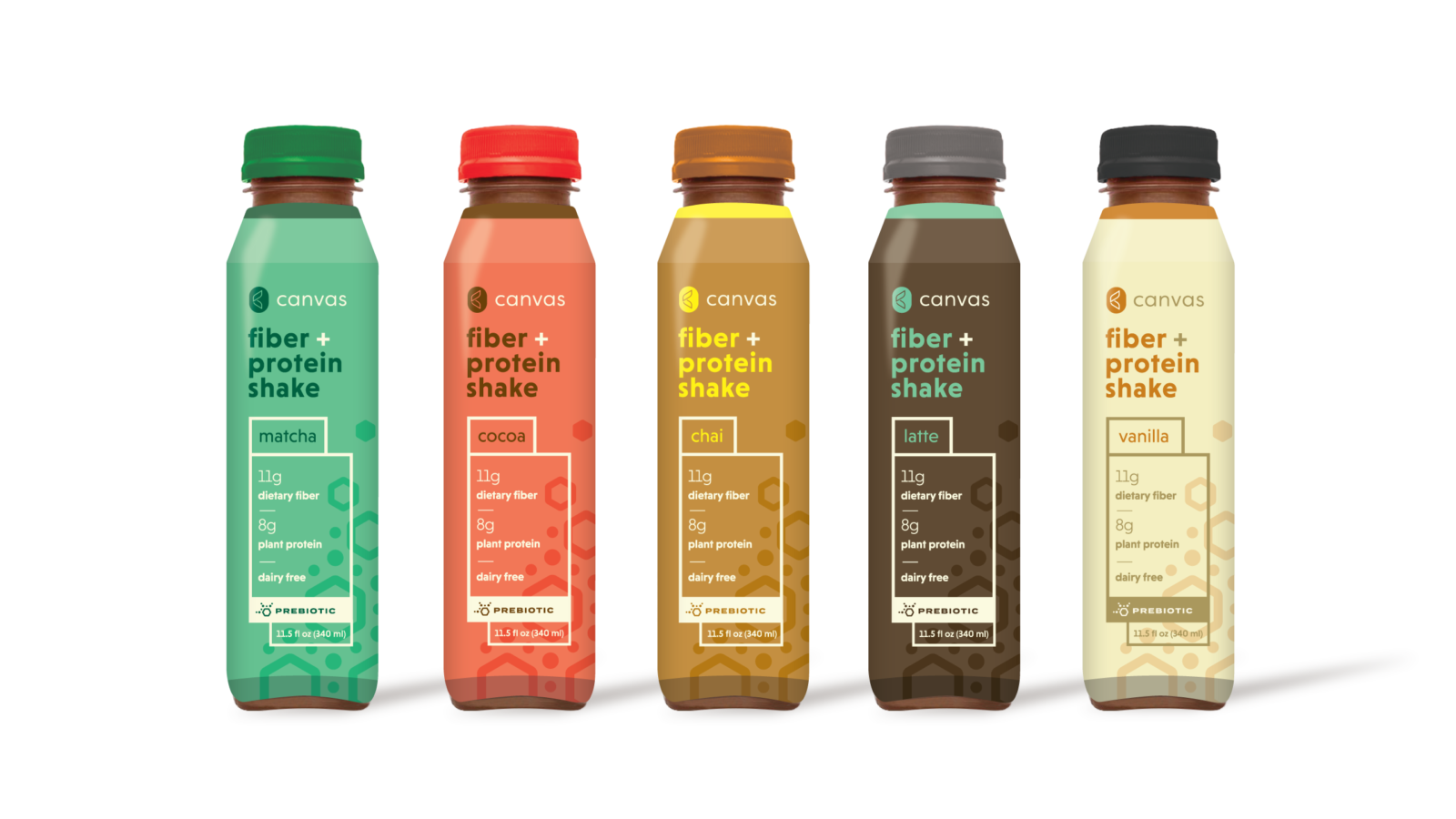 Canvas Fiber + Protein Shakes - Beverage Packaging Design