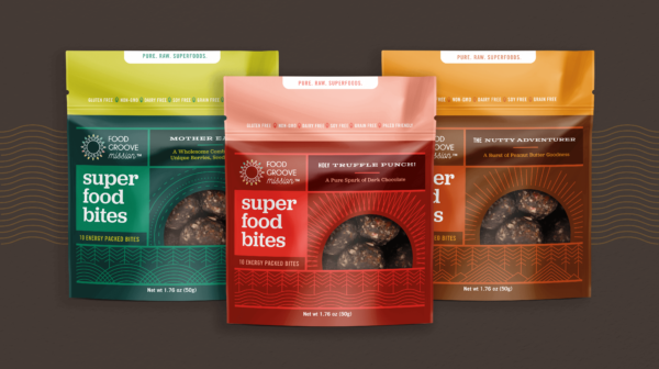 Food Groove pouch design