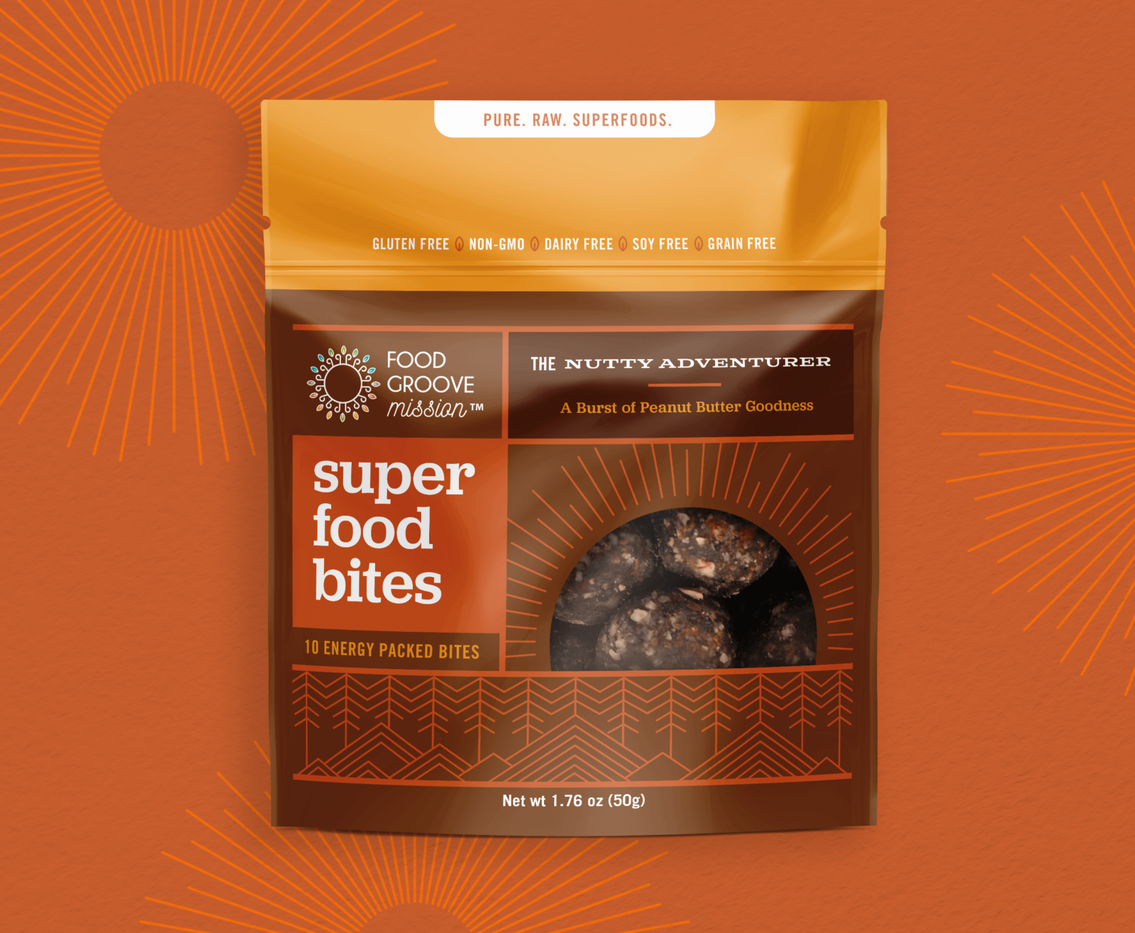 Food Groove Packaging Design Orange